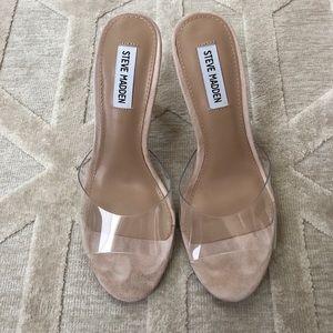 f786535ca16 Steve Madden Shoes - Steve Madden Erin Clear Stiletto Sandals